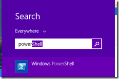Search for PowerShell